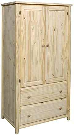 Bay Harbor Pine Armoire Unfinished Furniture Outlet Sanford Nc