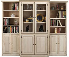 Bookcase Group W Glass Doors Unfinished Furniture Outlet Sanford Nc