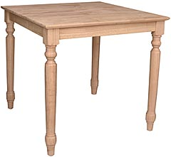 Square Counter Table Unfinished Furniture Outlet Sanford Nc