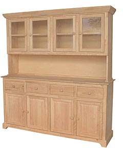 Large Hutch And Buffet