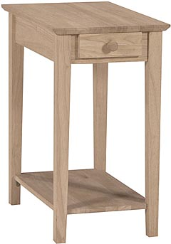 Narrow End Table Unfinished Furniture Outlet Sanford Nc