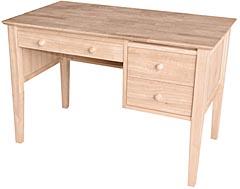 Lancaster 3 Drawer Desk Unfinished Furniture Outlet Sanford Nc