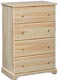Hillside Narrow 4 Drawer Chest - Deep Drawers