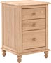 Cottage 3 Drawer Nightstand