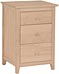 Lancaster 3 Drawer Nightstand