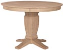 Round Gathering Table w/ Java Pedestal