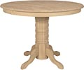 Round Gathering Table w/ Traditional Pedestal