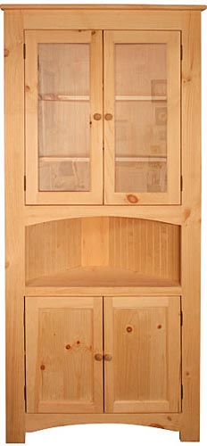 Amish Corner Cabinet