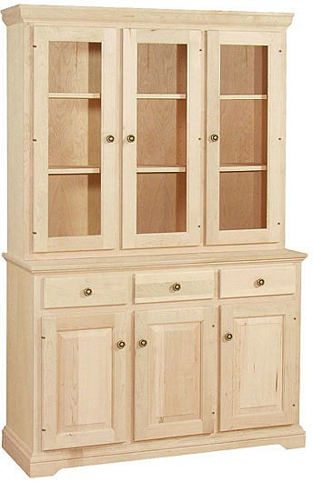 China Hutch WC 2A0804 1602B Unfinished Furniture Outlet