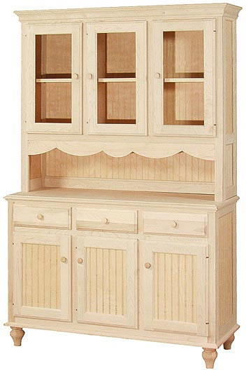 Cottage Hutch And Buffet Wc 2e0802 1602 Unfinished Furniture Outlet