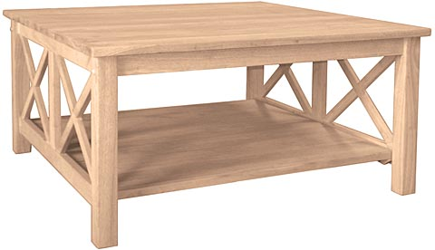 Hampton Square Coffee Table - Hampton Square Coffee Table : Unfinished Furniture Outlet,Sanford NC